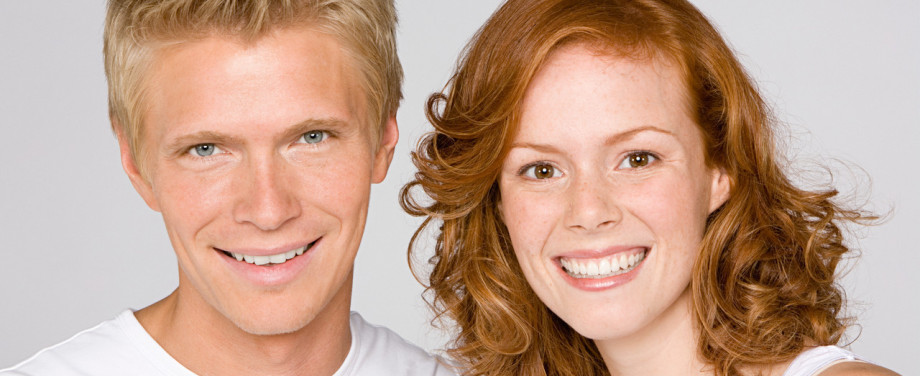 guy and girl smiling